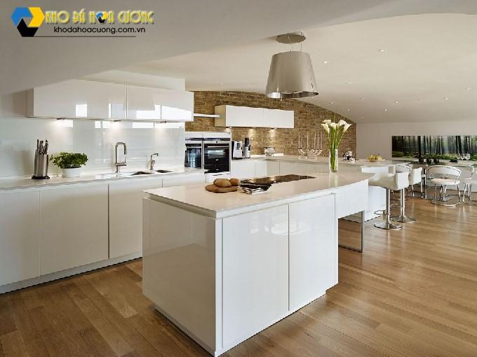 đá hoa cương trang trí nhà bếp